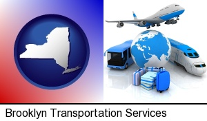 air, bus, and rail transportation services in Brooklyn, NY
