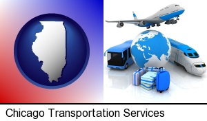 air, bus, and rail transportation services in Chicago, IL