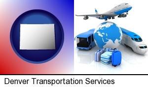air, bus, and rail transportation services in Denver, CO