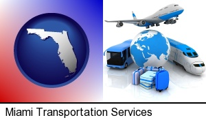 air, bus, and rail transportation services in Miami, FL
