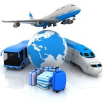 air, bus, and rail transportation services