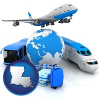 louisiana air, bus, and rail transportation services